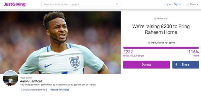 Английские фанаты собирают деньги на билет домой для Рахима Стерлинга