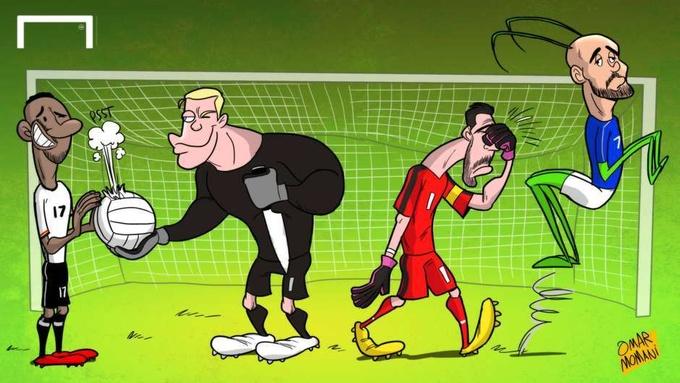 Известный иорданский футбольный карикатурист Омар Момани отреагировал на последние события в мире футбола.
