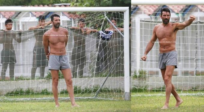 Буффон сыграл в футбол с дворовыми пацанами