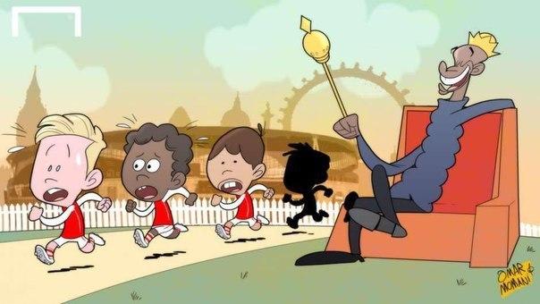 Бог Златан и распятый Роналду в подборке карикатур Омара Момани