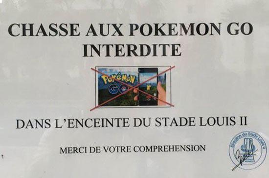 В Монако запретили ловить покемонов на стадионе