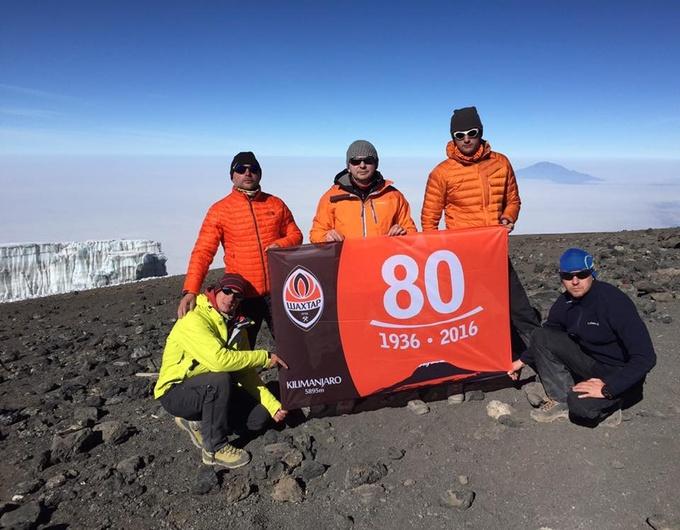 Шахтер отметил 80-летие клуба восхождением на Килиманджаро