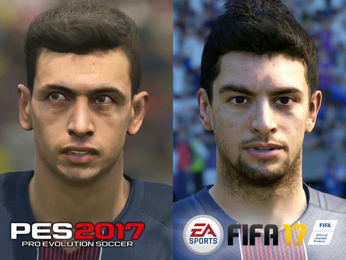 FIFA 17 против PES 2017: Битва лиц