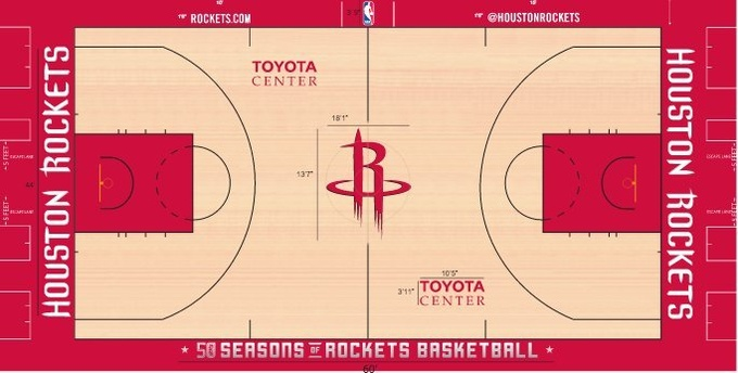 НБА. Хьюстон изменил дизайн паркета