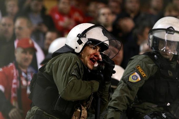 Бельгийские болельщики устроили побоище в Греции