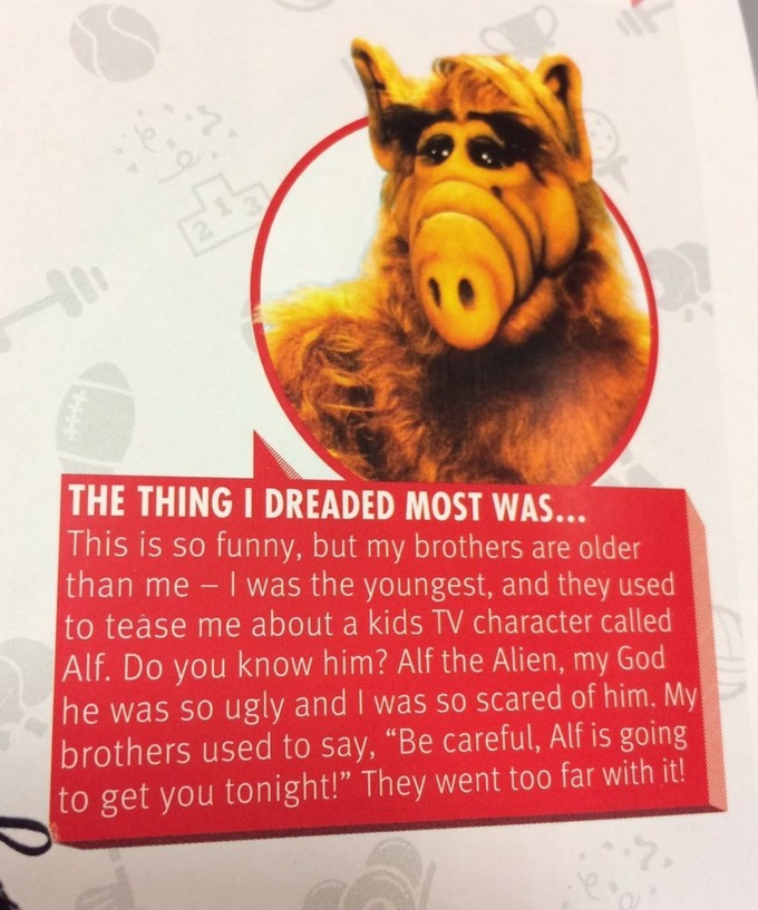 Жиру: мой наибольший страх - пришелец Альф