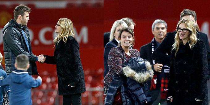 «Красотка» в Манчестере: Джулия Робертс вышла на газон Олд Траффорд