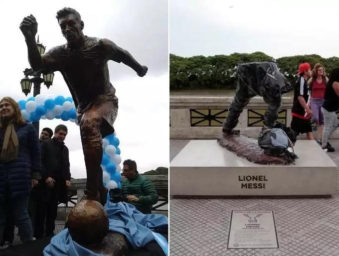 Не Роналду единым: вандалы разрушили памятник Месси в Аргентине