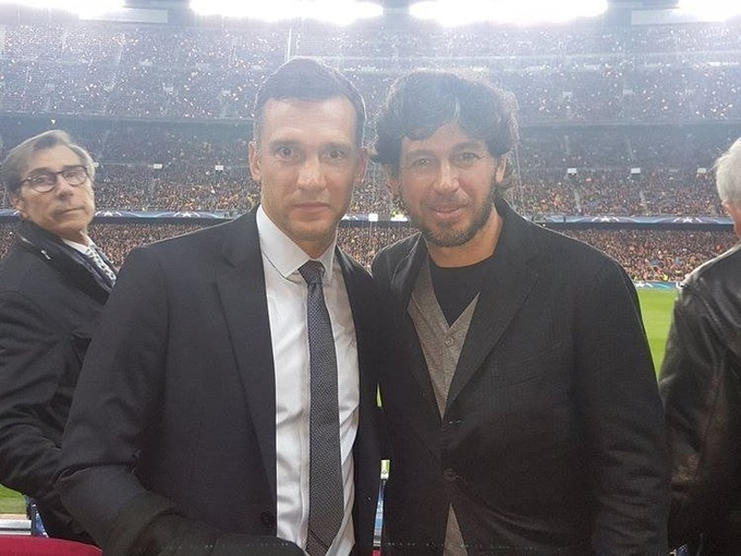 На фарт: Шевченко посетил матч Барселона – ПСЖ
