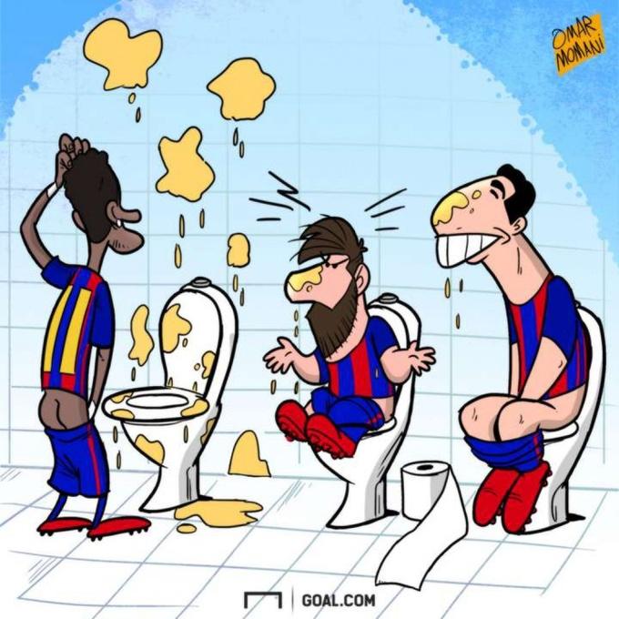 Известный карикатурист высмеял Месси и Суареса