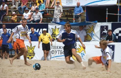 В субботу стартует чемпионат Украины по пляжному футболу