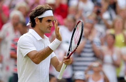 Федерер наконец-то уверенно побеждает на Уимблдоне