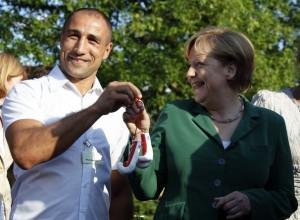 Абрахам встретился с Ангелой Меркель