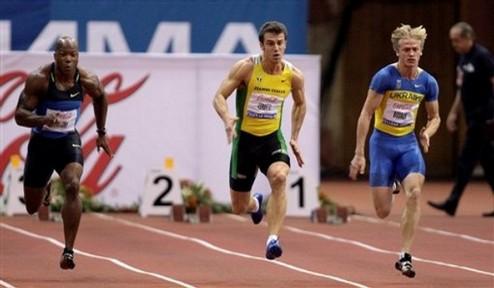 Легкая атлетика. Мужской полуфинал ЧЕ-2010 в беге на 200 м - без Украины