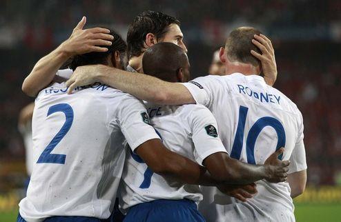 Англия уверенно бьет Швейцарию