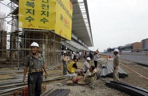 Трасса в Корее будет готова в срок