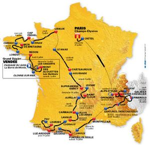 Стал известен маршрут Тур де Франс-2011