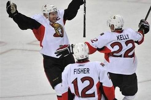 НХЛ. Хет-трики Стэмкоса, Альфредссона и Бурка