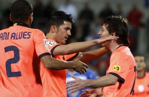 Барселона обыгрывает Хетафе + ВИДЕО