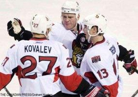 НХЛ. Ковалев переведен в четвертое звено