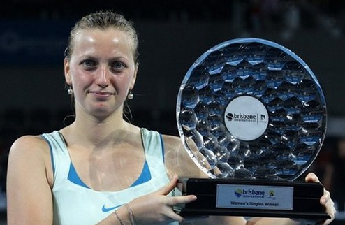 Брисбен (WTA). Квитова празднует победу