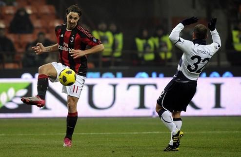 Милан и Лацио расходятся миром + ВИДЕО