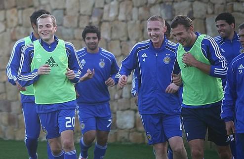 Динамо: первая тренировка в Испании