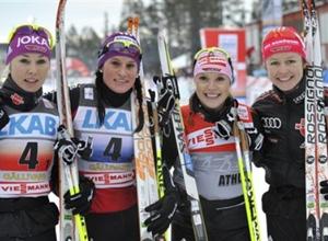 Лыжные гонки. Немецкие спортсменки ждут персьют
