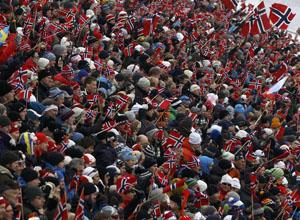 Лыжные гонки. 70 тысяч человек наблюдали за триумфом Нортуга