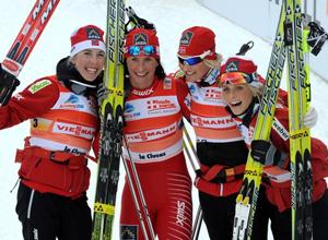 Лыжные гонки. Составы на женскую эстафету
