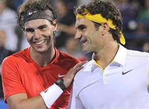 Надаль победил Федерера в выставочном матче
