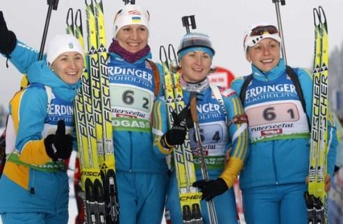 Украина добывает серебро женской эстафеты!