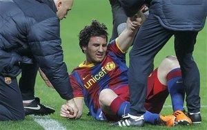 Месси возглавил список травмированных Барселоны