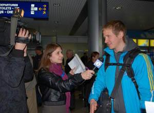 Биатлон. Сборная Украины прибыла на родину