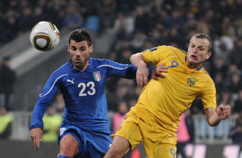 Сборная Италии вновь увозит из Киева победу