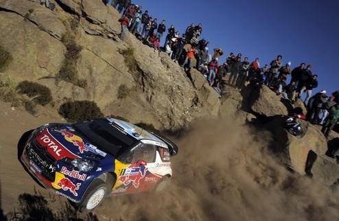 WRC. Ралли Аргентины. Лёб потерял шансы на победу после первого дня
