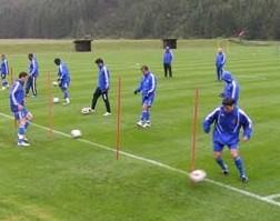 Динамо: первая тренировка в Австрии