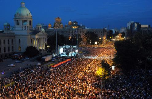 Джоковича на улицах Белграда встретила многотысячная армия фанов. ФОТО