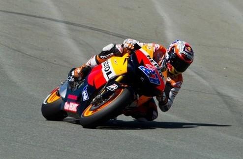 MotoGP. Стоунер на поуле, Росси шестнадцатый
