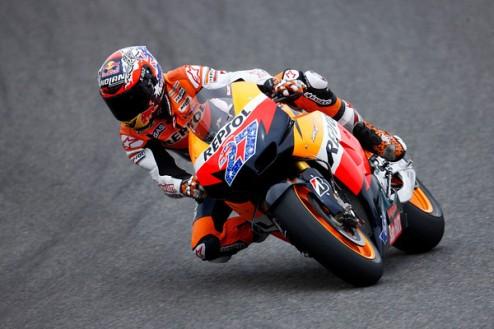 MotoGP. Гран-при Германии. Стоунер выигрывает последнюю разминку