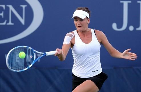 US Open (WTA). Радваньска вылетает