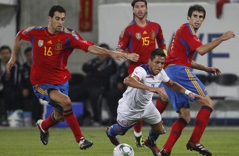 Испания: волевая победа над Чили + ВИДЕО
