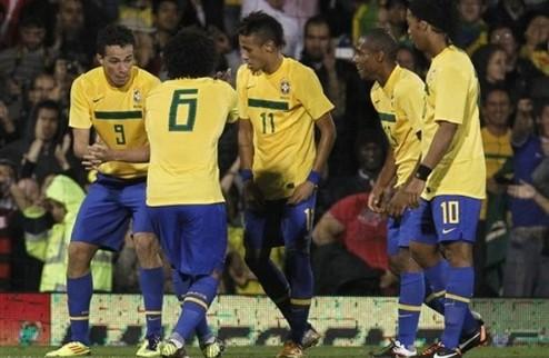 Бразилия обыгрывает Гану + ВИДЕО