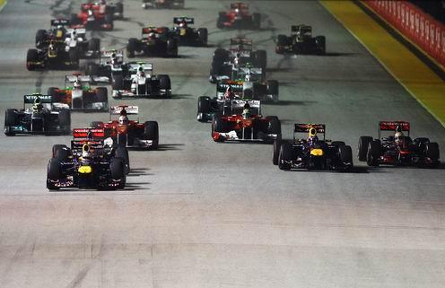 Гран-при Сингапура. Феттель в одном очке от чемпионства
