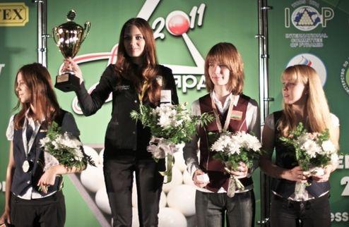 Бильярд. 15-летняя киевлянка выиграла чемпионат мира