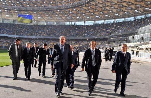 """Платини: """"Браво всем ответственным за подготовку Украины к Евро-2012"""""""