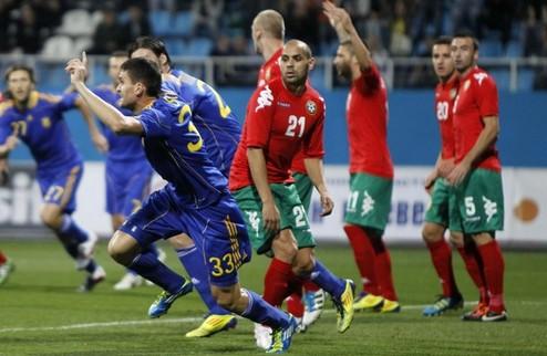 Украина уверенно побеждает Болгарию