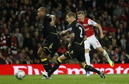 Арсенал и МЮ — в четвертьфинале Кубка Лиги + ВИДЕО