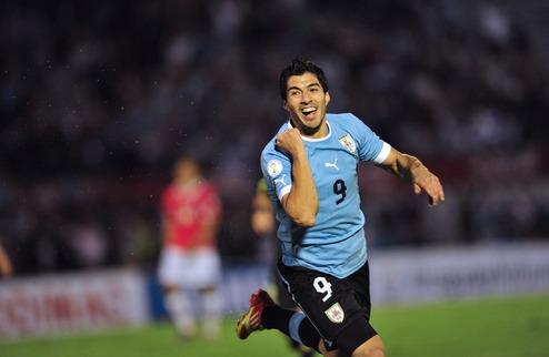 Отбор на ЧМ-2014. Уругвай отрывается от Аргентины + ВИДЕО