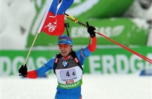 Биатлон. Шипулин одержал вторую в карьере победу